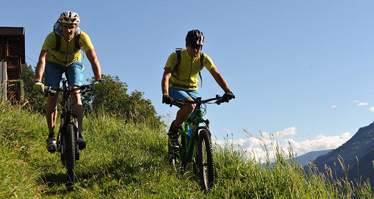 Radfahren und Mountainbike